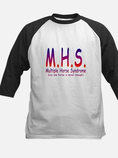 Multiple Horse Syndrome Kids Baseball Jersey
