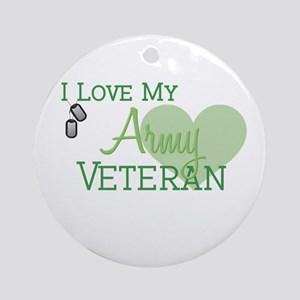 Army Veteran Ornament (Round)
