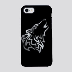Wolf Tribal Silver Black iPhone 8/7 Tough Case
