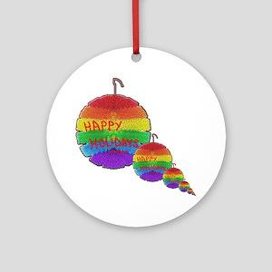 HAPPY HOLIDAY RAINBOW ORNAMENTS2 Ornament (Round)