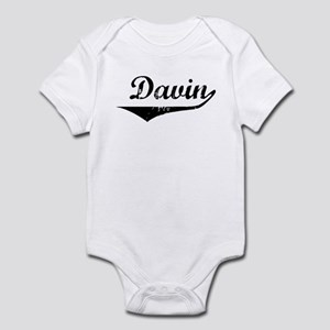 Davin Vintage (Black) Infant Bodysuit