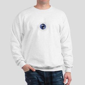 Skulls Blue Flames Sweatshirt