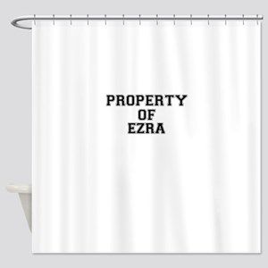Property of EZRA Shower Curtain