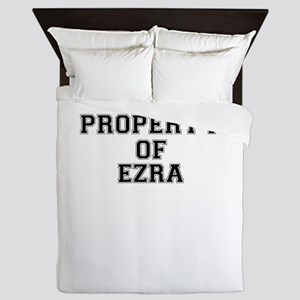 Property of EZRA Queen Duvet