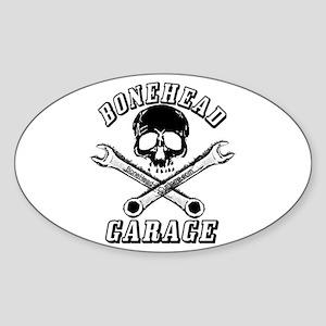 Bonehead Garage Oval Sticker