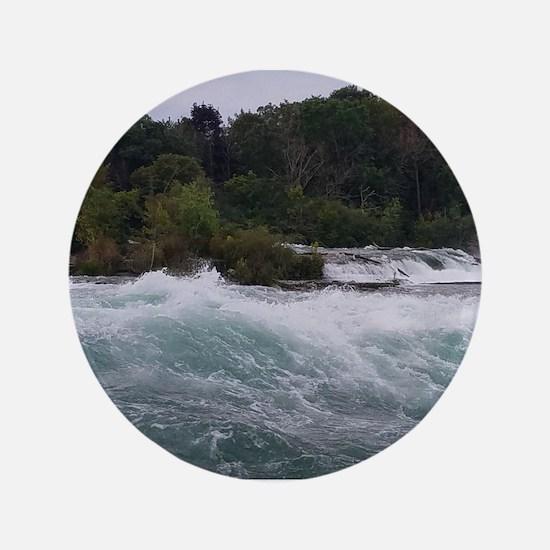 """Sightseeing at Niagara Falls 3.5"""" Button"""