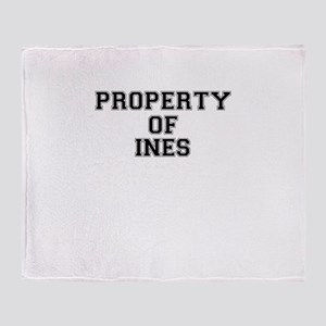 Property of INES Throw Blanket