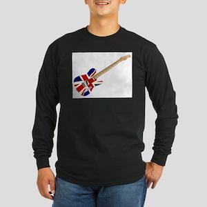 Union Jack Slab Guitar Long Sleeve T-Shirt