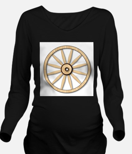 Light wagon Wheel Long Sleeve Maternity T-Shirt