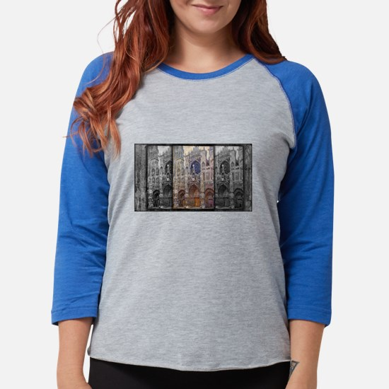 Rouen Cathedral, Grey Weather, Monet, Long Sleeve