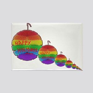 HAPPY HOLIDAY RAINBOW ORNAMENTS2 Rectangle Magnet