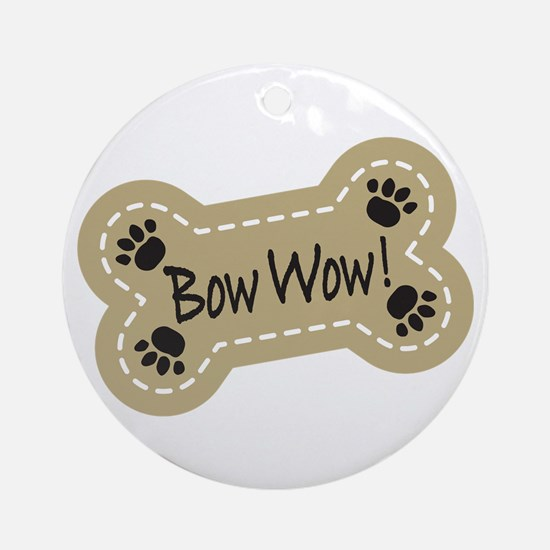 Bow Wow! Ornament (Round)