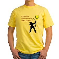 Not Just Archery Yellow T-Shirt