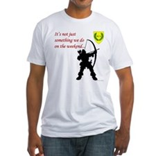 Not Just Archery Fitted T-Shirt