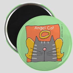 Gray Tabby Cat Angel Magnet