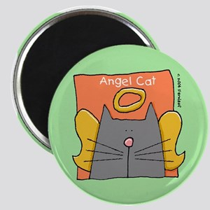 Gray Cat Angel Magnet