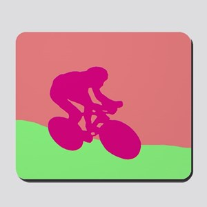 MAGENTA CYCLIST Mousepad