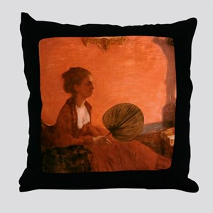 Madame Camus by Edgar Degas Throw Pillow