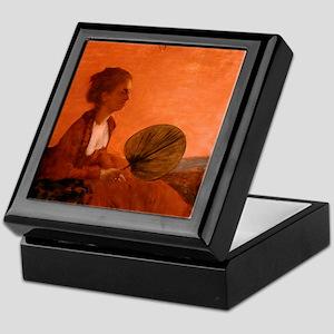 Madame Camus by Edgar Degas Keepsake Box