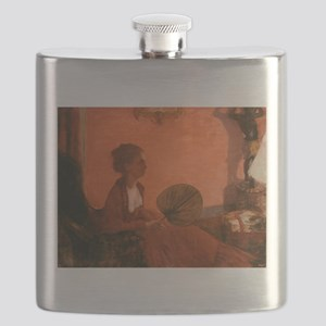 Madame Camus by Edgar Degas Flask