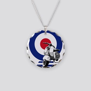 Mod Target Scooter Necklace Circle Charm