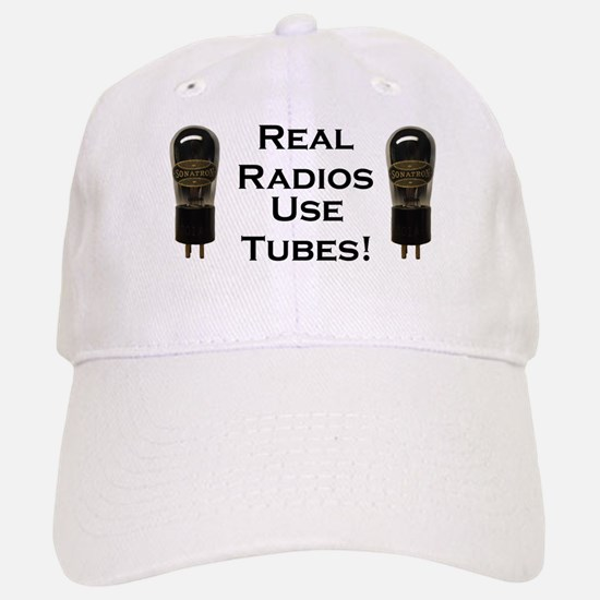 Real Radios Use Tubes! Baseball Baseball Cap