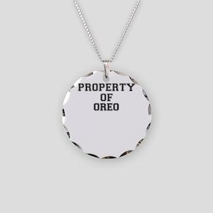 Property of OREO Necklace Circle Charm