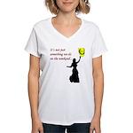 Not Just Belly Dancing Women's V-Neck T-Shirt