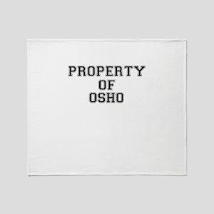 Property of OSHO Throw Blanket