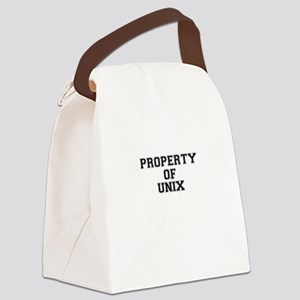Property of UNIX Canvas Lunch Bag