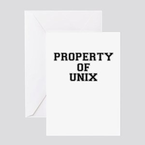 Property of UNIX Greeting Cards