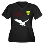 Not Just Falconry Women's Plus Size V-Neck Dark T-