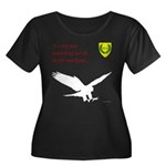 Not Just Falconry Women's Plus Size Scoop Neck Dar