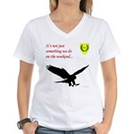 Not Just Falconry Women's V-Neck T-Shirt