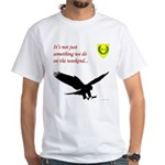 Not Just Falconry White T-Shirt