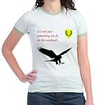Not Just Falconry Jr. Ringer T-Shirt