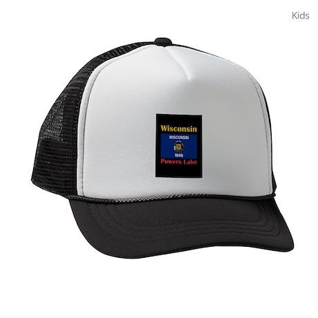 Powers Lake Wisconsin Kids Trucker hat