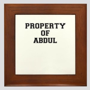 Property of ABDUL Framed Tile