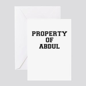 Property of ABDUL Greeting Cards
