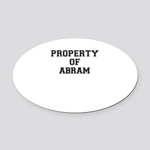 Property of ABRAM Oval Car Magnet