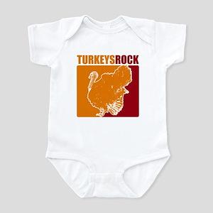 Turkeys Rock! Infant Bodysuit