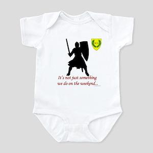 Not Just Heavy Fighting Infant Bodysuit