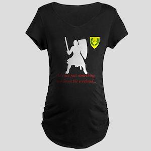 Not Just Heavy Fighting Maternity Dark T-Shirt