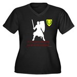 Not Just Heavy Fighting Women's Plus Size V-Neck D