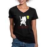 Not Just Heavy Fighting Women's V-Neck Dark T-Shir