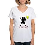 Not Just Heavy Fighting Women's V-Neck T-Shirt
