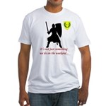 Not Just Heavy Fighting Fitted T-Shirt
