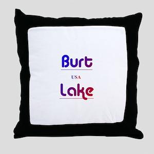 Burt Lake Throw Pillow