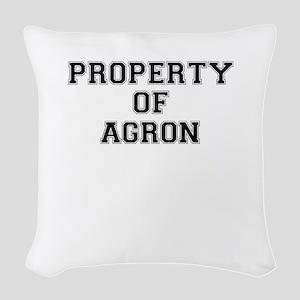 Property of AGRON Woven Throw Pillow