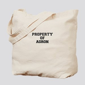 Property of AGRON Tote Bag
